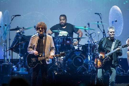 Jeff Lynne's ELO performs at Little Caesars Arena in Detroit, Saturday, July 20, 2019.