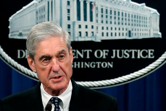 In this May 29, 2019, file photo, special counsel Robert Mueller speaks at the Department of Justice Wednesday, in Washington, about the Russia investigation.