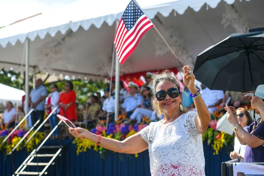 A scene from the 75th Liberation Parade in Hagåtña on July 21, 2019.