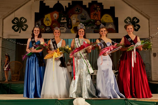 The 2019 4-H Queen and Court pose for a photo, Saturday, July 20, 2019 in Lafayette.