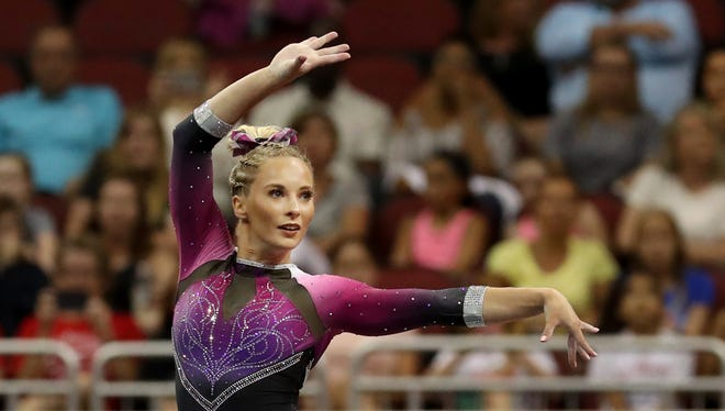 McKayla Skinner performs her floor routine at the GK U.S. Classic on July 20, 2019
