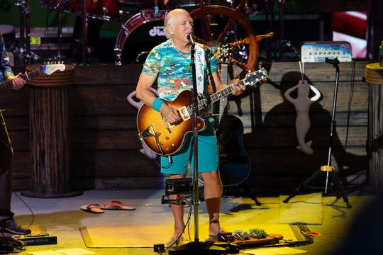 Jimmy Buffett and the Coral Reefer Band performs at Alpine Valley Music Theatre on Saturday.