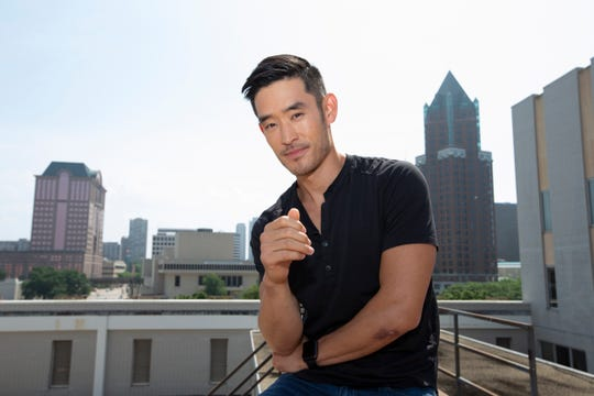 """Mike Moh stops by Milwaukee during promotion for the new Quentin Tarantino movie """"Once Upon a Time ... in Hollywood."""" Moh, who owns a martial arts studio in Waunakee, Wis., plays Bruce Lee in the movie."""