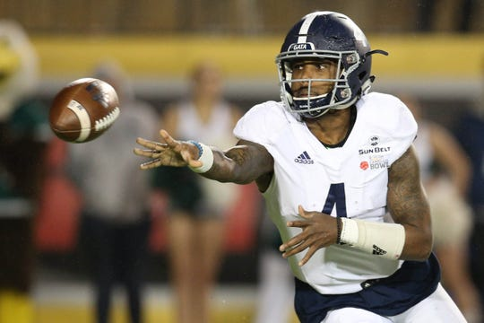 Georgia Southern QB Shai Werts (4) thrived with Georgia Southern's return to the triple option, becoming the conference's most dynamic dual-threat passer.