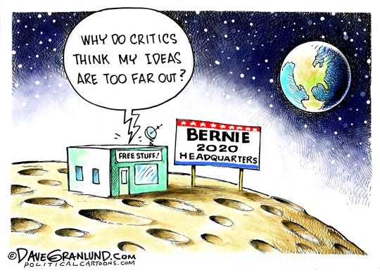 Bernie Sanders' HQ on the moon.