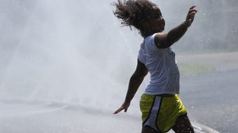 New Jersey residents found ways to battle the heat wave as temperatures climbed to the upper 90's but felt like 110 in some areas.  July 21, 2019