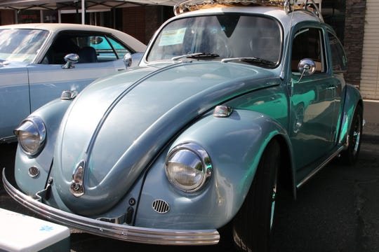 A 1967 Volkswagen Bug is on display during the Four Corners Rod Run car show Saturday in downtown Farmington.