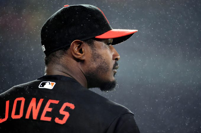 Adam Jones spent 11 years in Baltimore where he became the face of the Orioles.