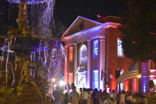 Notable ChambersFest events - like the burning of Chambersburg and Old Market Day - that drew tourists to Downtown Chambersburg in past years won't happen in 2020 due to the Coronavirus pandemic.   Starting at dusk on Saturday, July 30, 2019, lights filled the sky downtown to simulate an event that took place over a century ago.  Reenactors filled the front steps of the Visitor's Center for1864: The Burning.  The event, started in 2011 for the Civil War's Bicentennial, commemorates when locals started ChambersFest in 1986 to shine a light on Chambersburg's past. On July 30, 1864, the town was burned to the ground by Confederates. Instead of wallowing in despair, residents rebuilt - and that showed the resilience that ChambersFest celebrates over two centuries later.