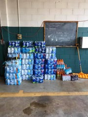 Strinestown Community Fire Co. later posted a photo to Facebook Saturday, July 20, showing stacks of bottled water, Gatorade and other drinks that had been dropped off at their station while they were at a fire scene.