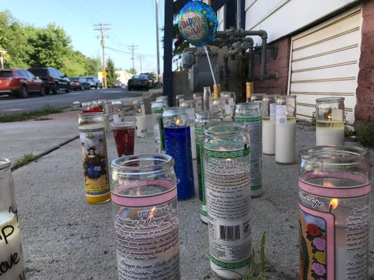 A memorial of candles, Hennessy bottles and a balloon mark the spot in the 500 block of Smith Street, York, where Kyle Otto, 31, was found dead just before 3:30 a.m. Saturday, according to the York County Coroner's Office.