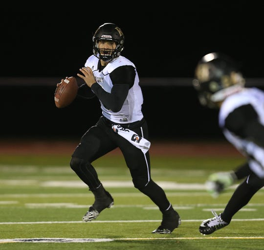 Jared Gerbino was mostly a running back in youth football but became a two-time All-Greater Rochester selection at quarterback for Rush-Henrietta.