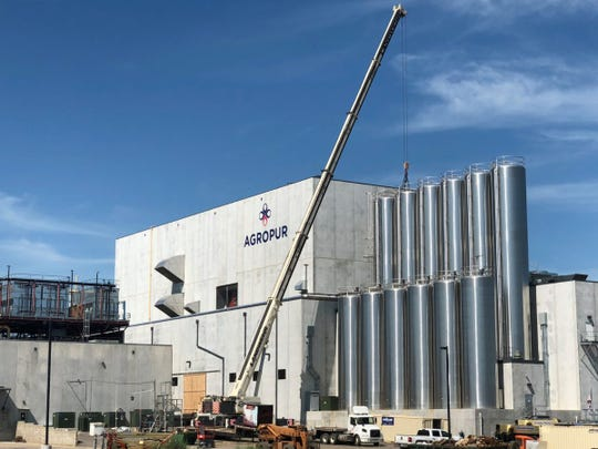 Construction is still ongoing at the Agropur cheese plant in Lake Norden, S.D., which has seen its milk production capacity triple as part of a $252 million expansion. The plant violated pollution limits in its treated wastewater during its first few months of operation.