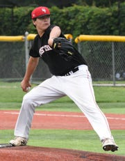 Cole Hupke gave up just one hit in a 10-0 win over top-ranked Yankton at the Region 2A tournament on Sunday, July 21, 2019 in Yankton.