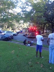 Isiah Taylor, who was on the Star-Metro bus, took these photos of the scene after the crash with another vehicle.