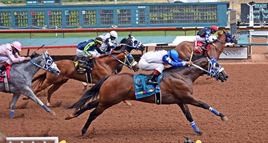 Fire Up Eagle won the Corona Cartel stakes race on Saturday at Ruidoso Downs Racetrack and Casino with Raul Ramirez Jr. aboard.