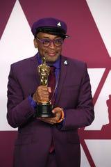 "Spike Lee holds his first Academy Award for ""BlacKkKlansman"" in February."