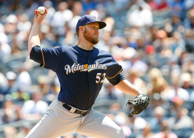 Milwaukee Brewers pitcher Jimmy Nelson pitched one inning for the Wisconsin Timber Rattlers on Sunday at Neuroscience Group Field at Fox Cities Stadium.