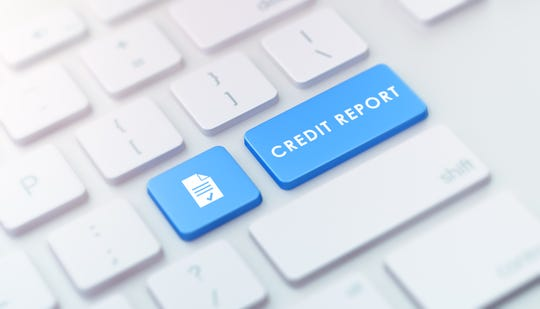 Credit report keyboard button