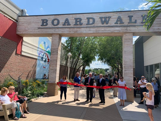 Brick Plaza recently unveiled its new Boardwalk area.