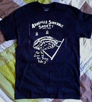 A test run of the Asheville Sinkhole Society's inaugural t-shirt.