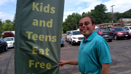 Part of Xach Moyer's duties as an Endwell United Methodist Church intern  include a  free summer lunch program for needy students.