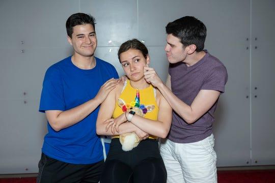 From left, Steven Bennett (Ron), Francesca Panzara (Emma) and Jack Herrin (Roy) in 'Unicorn Girl.'