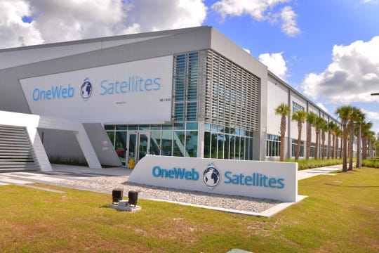 OneWeb Satellites' facility at Exploration Park at Kennedy Space Center.