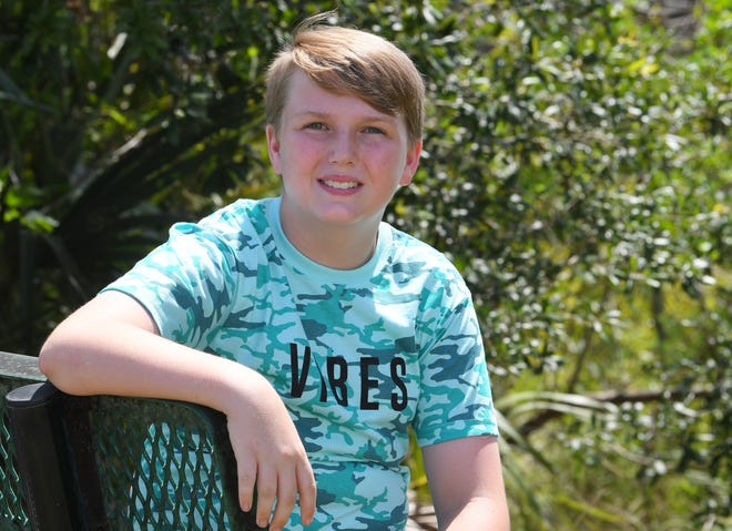 Riley Taylor,13, of Port St. John. His interests include wrestling, magic tricks, and karate, and  he has even trained in Okinawa.