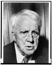 A 1961 portrait of Robert Frost by Walter Albertin.