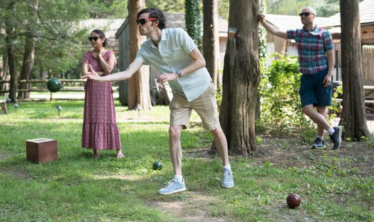Visitors play bocce in the yard of Cold Spring Brewery located in Lower Township, NJ.