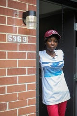 Moneaca Collins fled her Winton Hills apartment after her sons were shot at multiple times. Collins returned a week later to collect her belongings only to find her apartment had been shot up and ransacked.