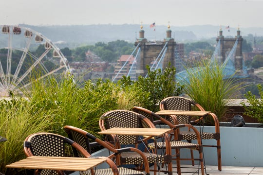The View at Shires' Garden opened on the 10th floor of the City Club Apartments at 309 Vine Street Friday, July 19, 2019. This restaurant and bar offers beautiful views of downtown Cincinnati.