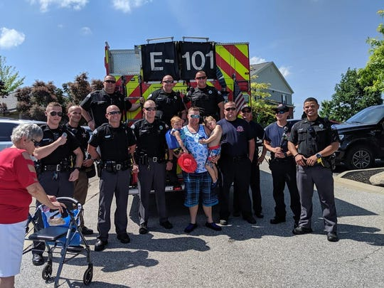 Florence police officers and firefighters responded to a call of no guests at a birthday party for two young boys July 20 at the Columns on Wetherington apartment complex. Officers and firefighters sang Happy Birthday to the boys.