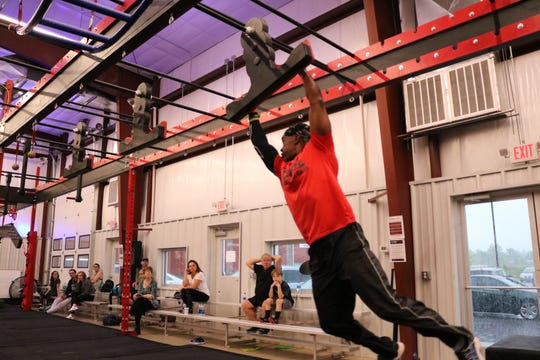 Coach Storm Sims at the Fortified Fit Competition in May.