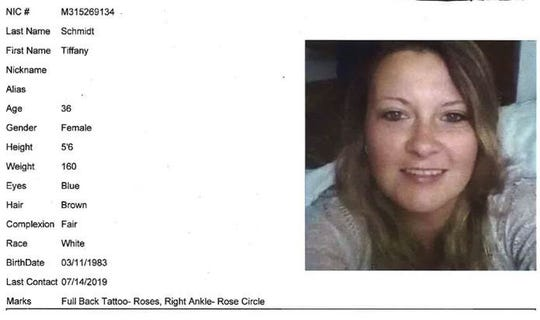 Tiffany Schmidt,originally from Pennsylvania, was last seen by her boyfriend July 13 at a hotel in Iselin section of Woodbridge, township police said.