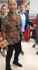 Singer-songwriter John Legend popped into the ShopRite in Linden Saturday to buy some gummy bears. He was in town for Ozy Fest which was canceled due to the heat wave.
