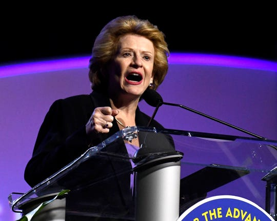 U.S. Sen. Debbie Stabenow, D-Lansing, speaks at the 2019 NAACP convention in Detroit last week.