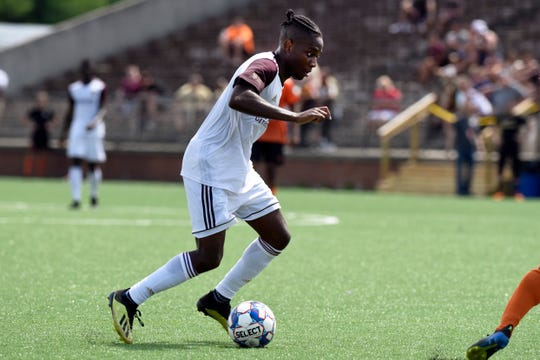 Detroit City FC forward Shawn Lawson scored three goals after coming on as a second-half substitute in a 6-1 exhibition victory over Windsor TFC on Tuesday.