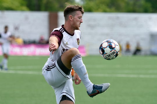 Defender Stephen Carroll assisted on Matt Lewis' goal in the 22nd minute to put DCFC up 1-0.