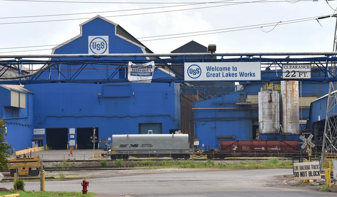 In June, U.S. Steel said said it was idling a blast furnaces at Great Lakes Works in Ecorse (seen here) and River Rouge until market conditions improve.
