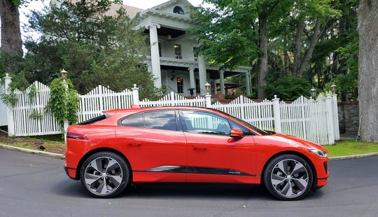 The 2019 Jaguar I-Pace EV is quick, quiet, with 240-mile range on a full charge.