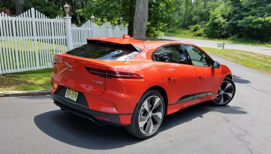 Around back, the 2019 Jaguar I-Pace EV is definitely an SUV with a hatchback for better utility. The cargo room, however, is less than the its F-Pace gas peer.