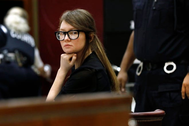 Anna Sorokin sits at the defense table during jury deliberations in her trial at New York State Supreme Court, in New York.