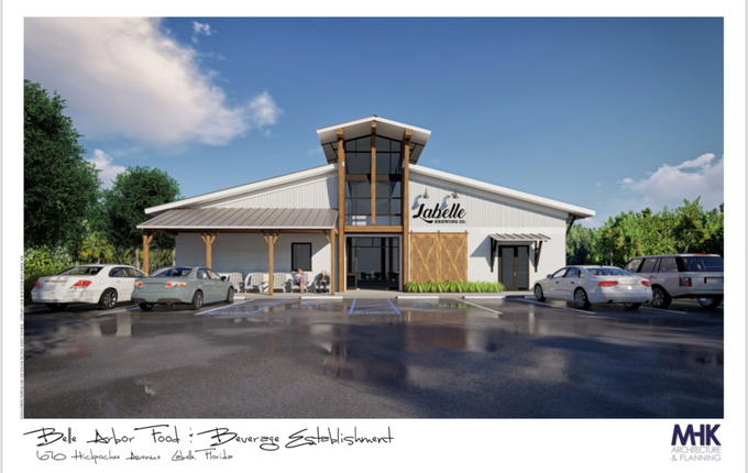 A rendering of the new LaBelle Brewing Co. on State Road 80 in LaBelle.