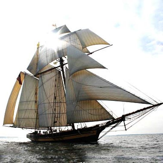 The Pride of Baltimore II is among the nine vessels expected to be in Sturgeon Bay on Monday night for the Parade of Sails, following their appearance at Nicolet Bank Tall Ships in Green Bay.
