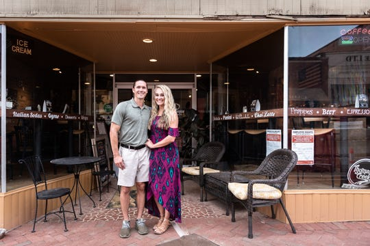 Erin Frost and Sean Eads met at Stomping Grounds Coffee House and Wine Bar in Greer on October 8, 2017, and are now engaged. They are just one couple of several who had their first dates at the coffee shop.