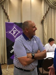 Furman coach Clay Hendrix says of the QB situation entering the 2019 preseason: 'I like who we have at that position, but we're lacking some experience.'