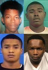 From top left clockwise: Adrian Smith, Shawan F. Allen, Justin Anderson and Jatavious Berry.