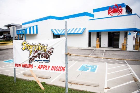 Storming Crab is a new seafood restaurant at 8355 Kingston Pike in West Knoxville.